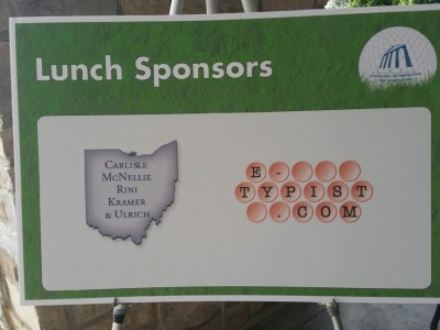 E-Typist sponsor of Cleveland Metro Bar association Golf Outing