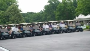 golf carts at Cleveland Metro Bar Association Golf Outing sponsored by E-Typist online transcription service